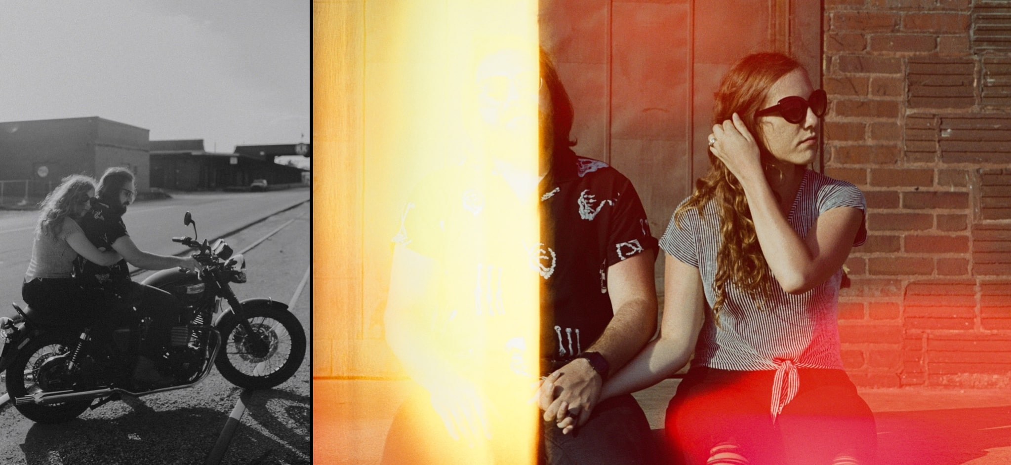 motorcycle couples session
